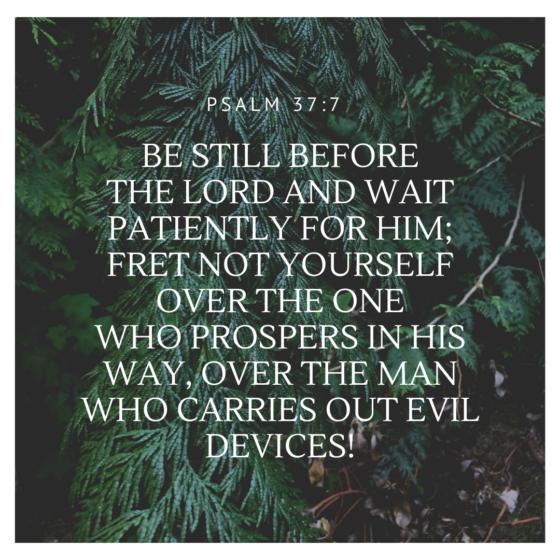 Psalm 37 verse 7